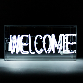 ACRYLIC NEON BOX WELCOME LCM