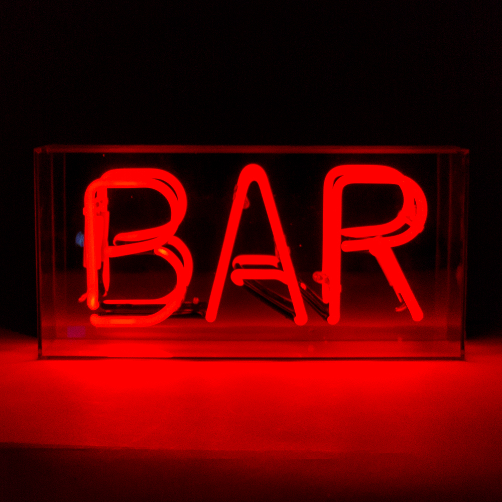 ACRYLIC NEON BOX BAR LCM