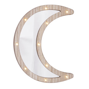WOOD MOON MIRROR LIGHT HF