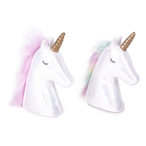 UNICORN COIN BANK COLOR HAIR HF