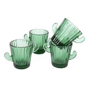 SET 4 SHOT GLASSES CACTUS HF