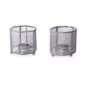 CANDLE HOLDER METAL GEO HF