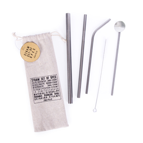 SET STRAWS IN COTTON BAG HF