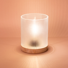 CRYSTAL LAMP WITH WOODEN BASE HF - Item1