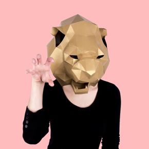 MASK SET LION PANDA RACCOON HF - Item1