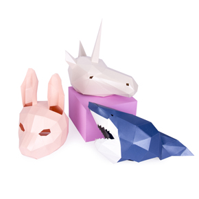 MASK SET UNICORN SHARK AND RABBIT HF