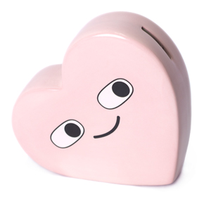 HAPPY UNHAPPY HEART COIN BANK HF