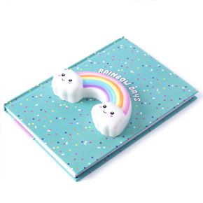 SQUISHY RAINBOW A5 NOTEBOOK HF