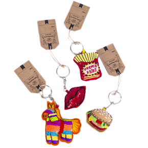 BOHO EMBRODERY KEYCHAINS ASSORTED HF