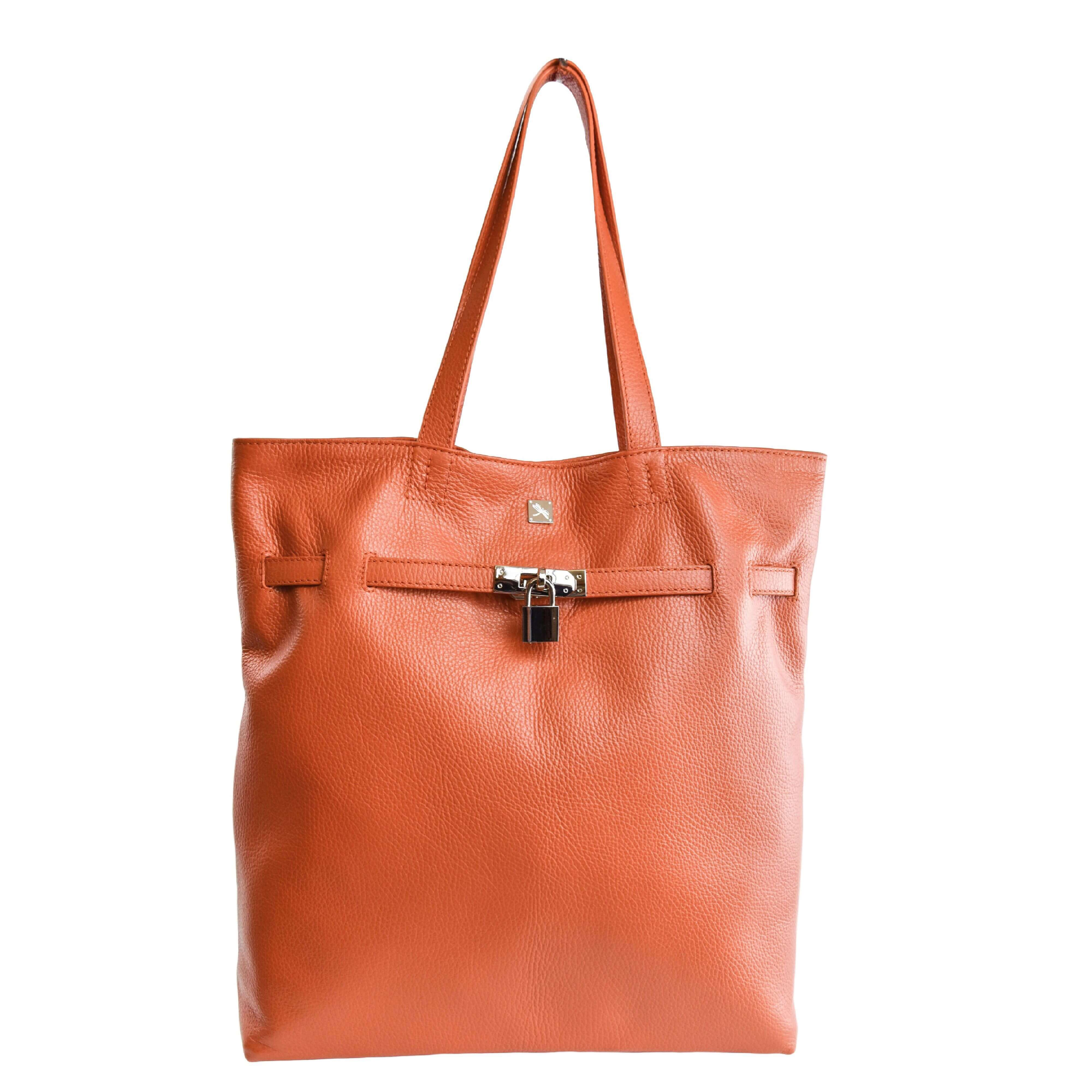 alicia Orange Shopper