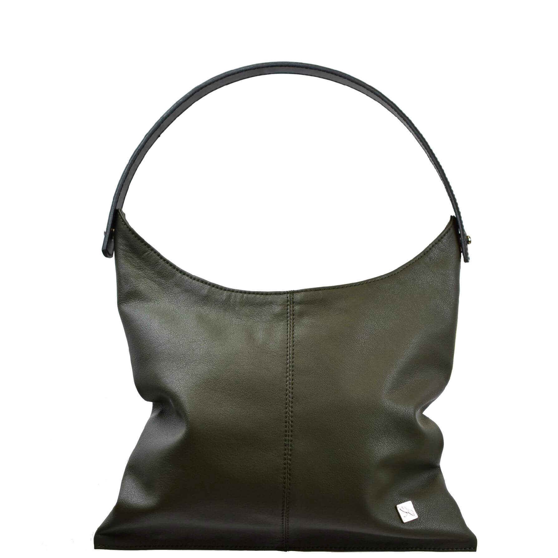 Green Shoulder Hobo Bag - Leather Handbags | TARA´S