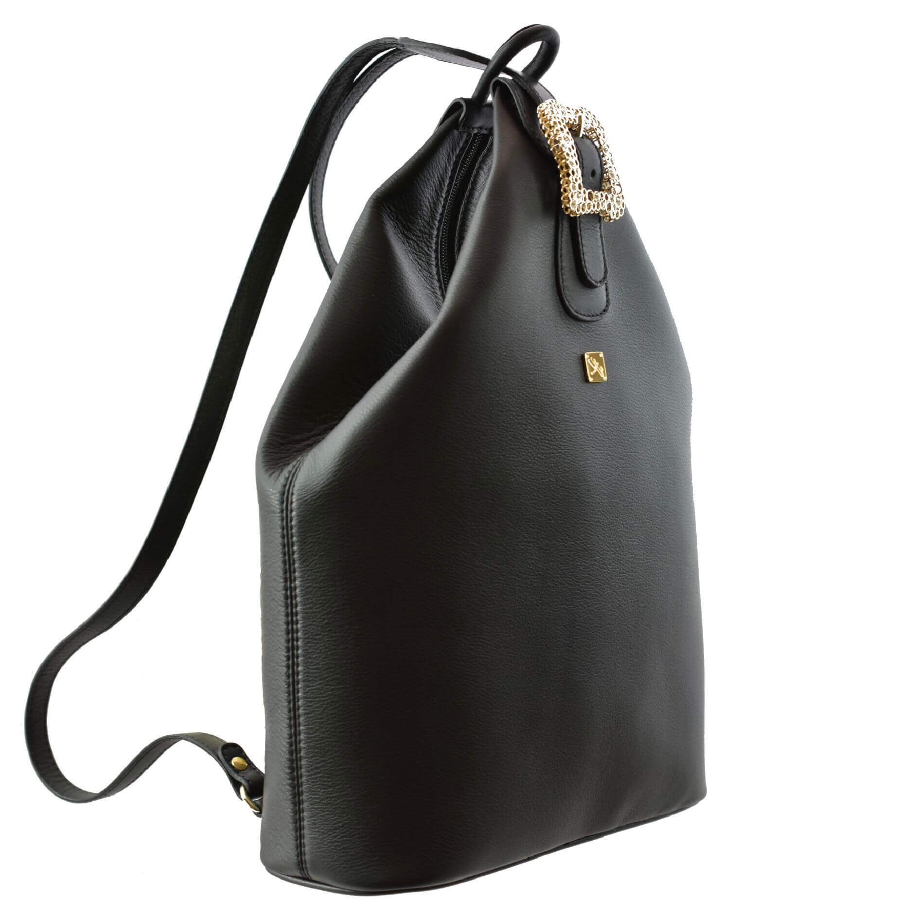Black Leather Backpack- Leather Handbags | TARA´S