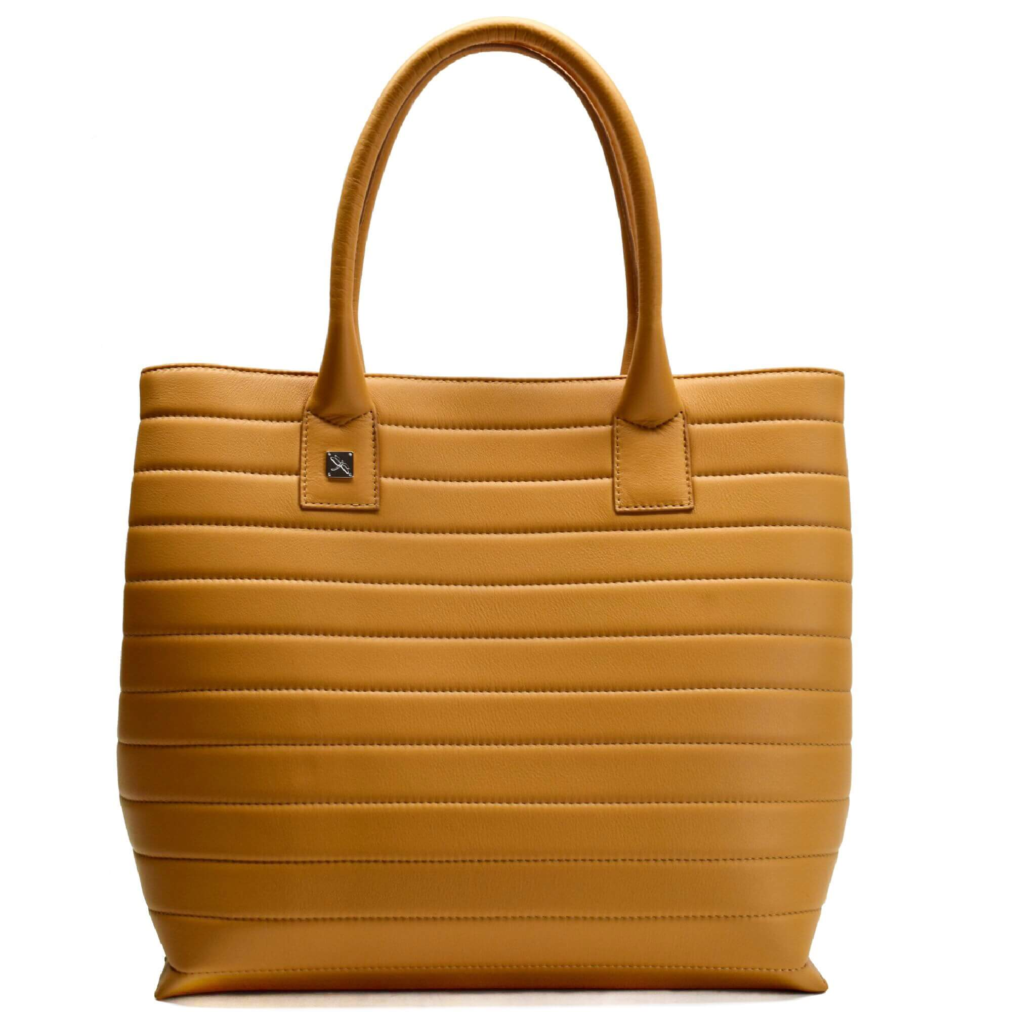 Camel Tote Leather Handbag. Natalia M