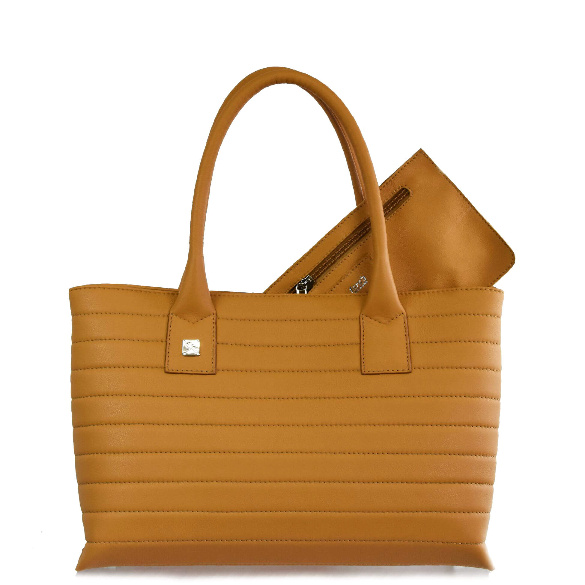 Camel Tote Leather Handbag. Natalia S