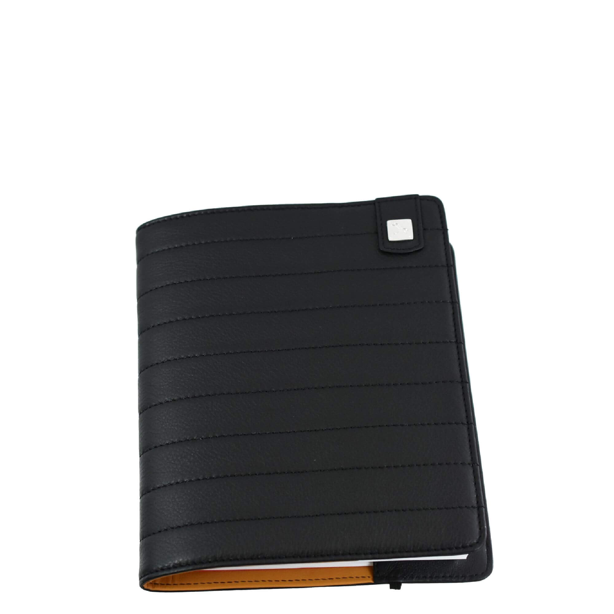 Black Leather Cover. Notebook