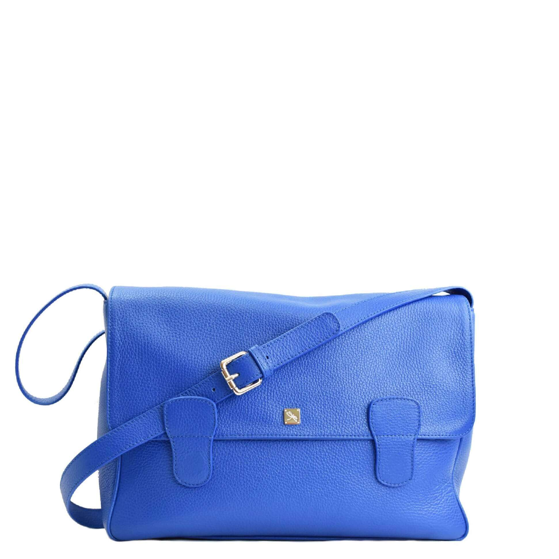 Alexandra Blue Messenger Bag