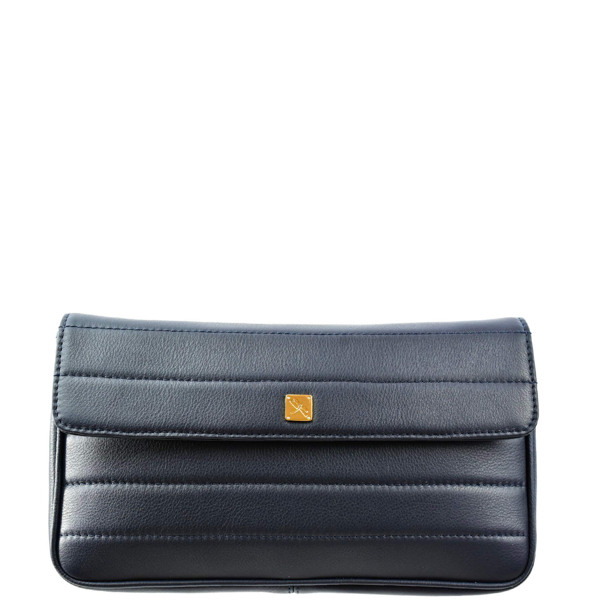 Navy Crossbody with Chain. Viena L