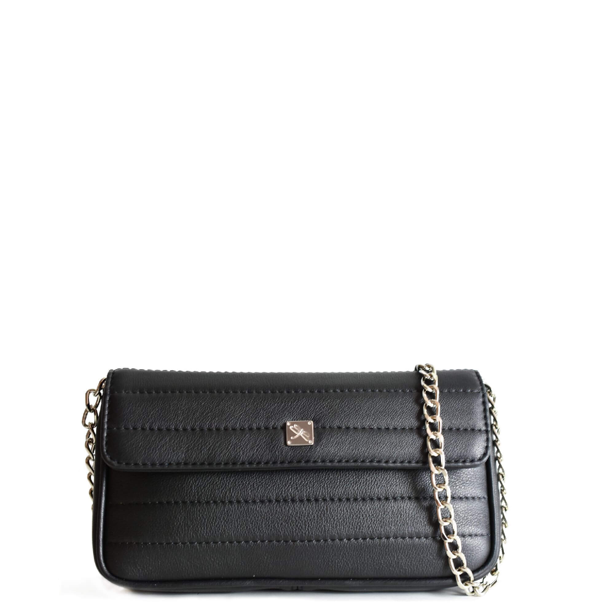 Black Mini Crossbody with Chain. Viena S