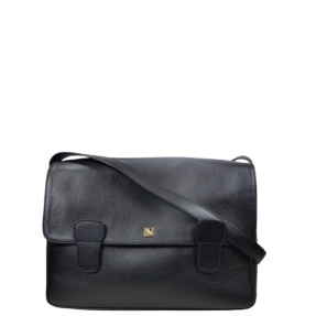 Alexandra Black Messenger Bag