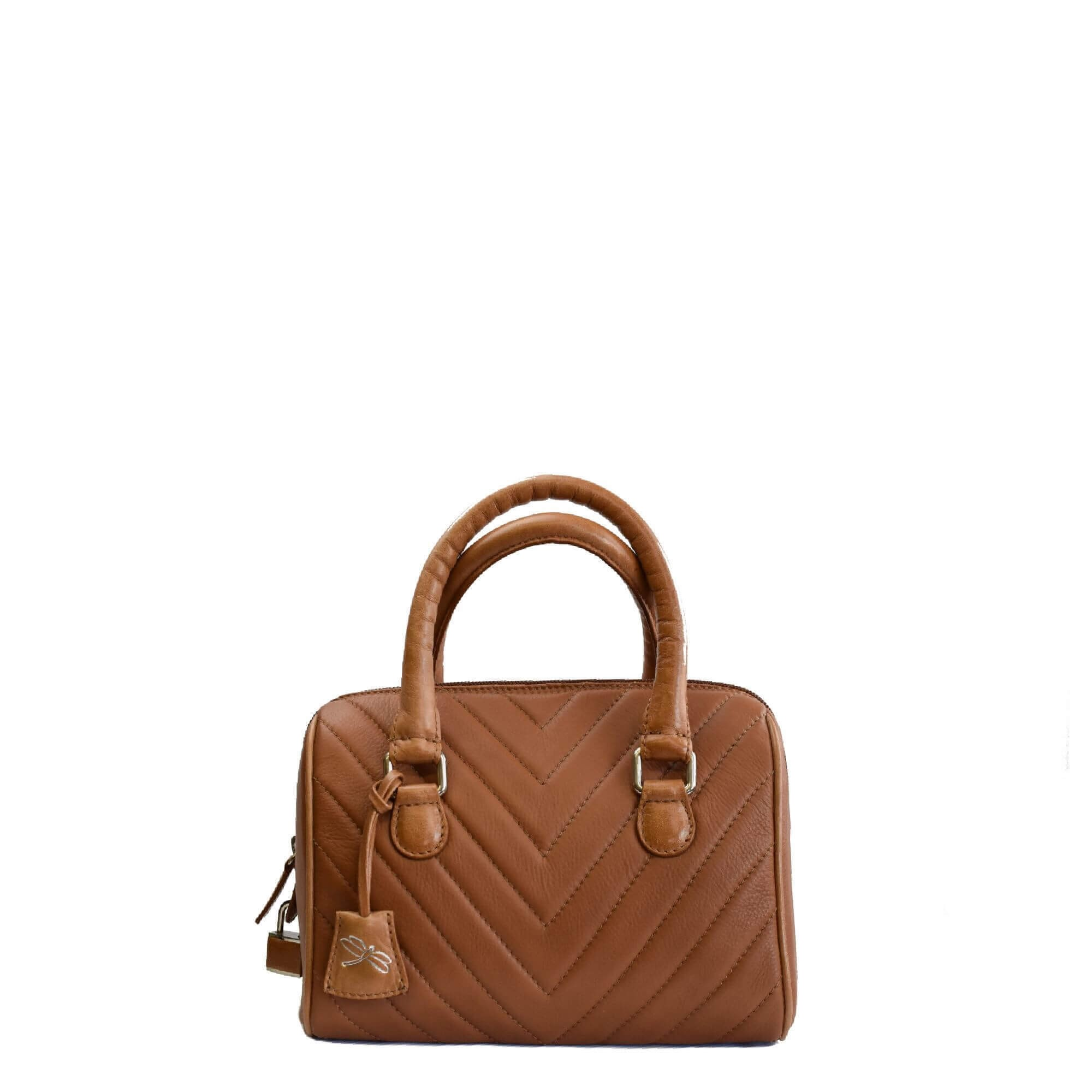 brown leather mini bag tara's