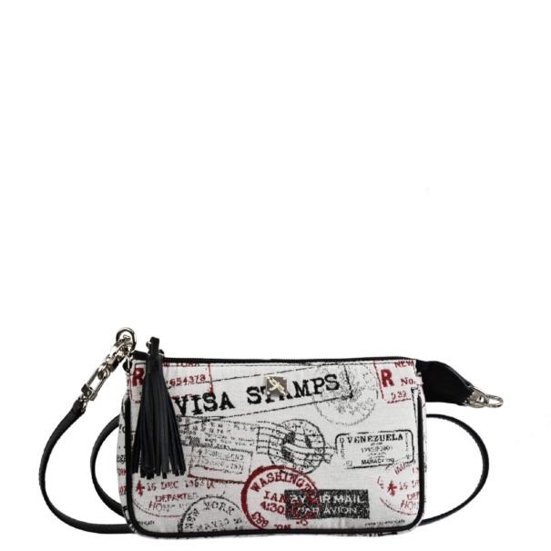 Canvas Crossbody Bag. Bea black and white - Leather bags | TARA´S