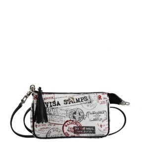 Black Jacquard Crossbody. Bea