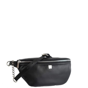 Black Leather Fanny Pack - Leather Handbags | TARA´S