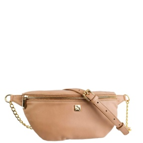 Beige Leather Fanny Pack - Leather Handbags | TARA´S