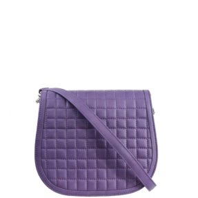 Lavender Matelassé Stitch Saddle Crossbody - Leather Handbags | TARA´S