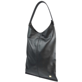 Black Hobo Smooth Leather Bag. Deia L