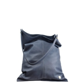Stone Blue Large Hobo Bag - Leather Handbags | TARA´S