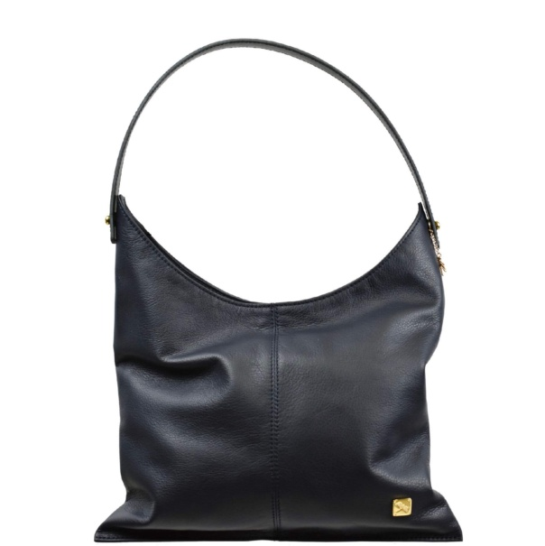 Navy Blue Shoulder Hobo Bag - Leather Handbags | TARA´S