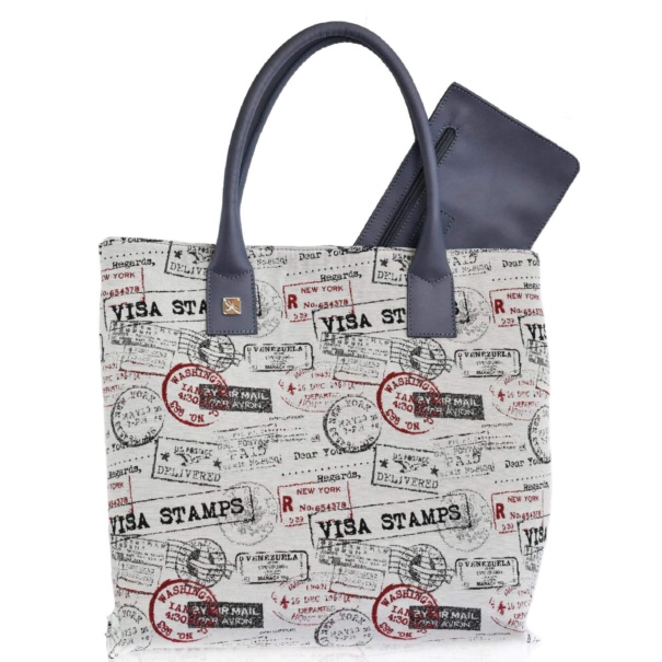 Canvas & Leather Medium Tote Handbag - Leather Handbags | TARA´S