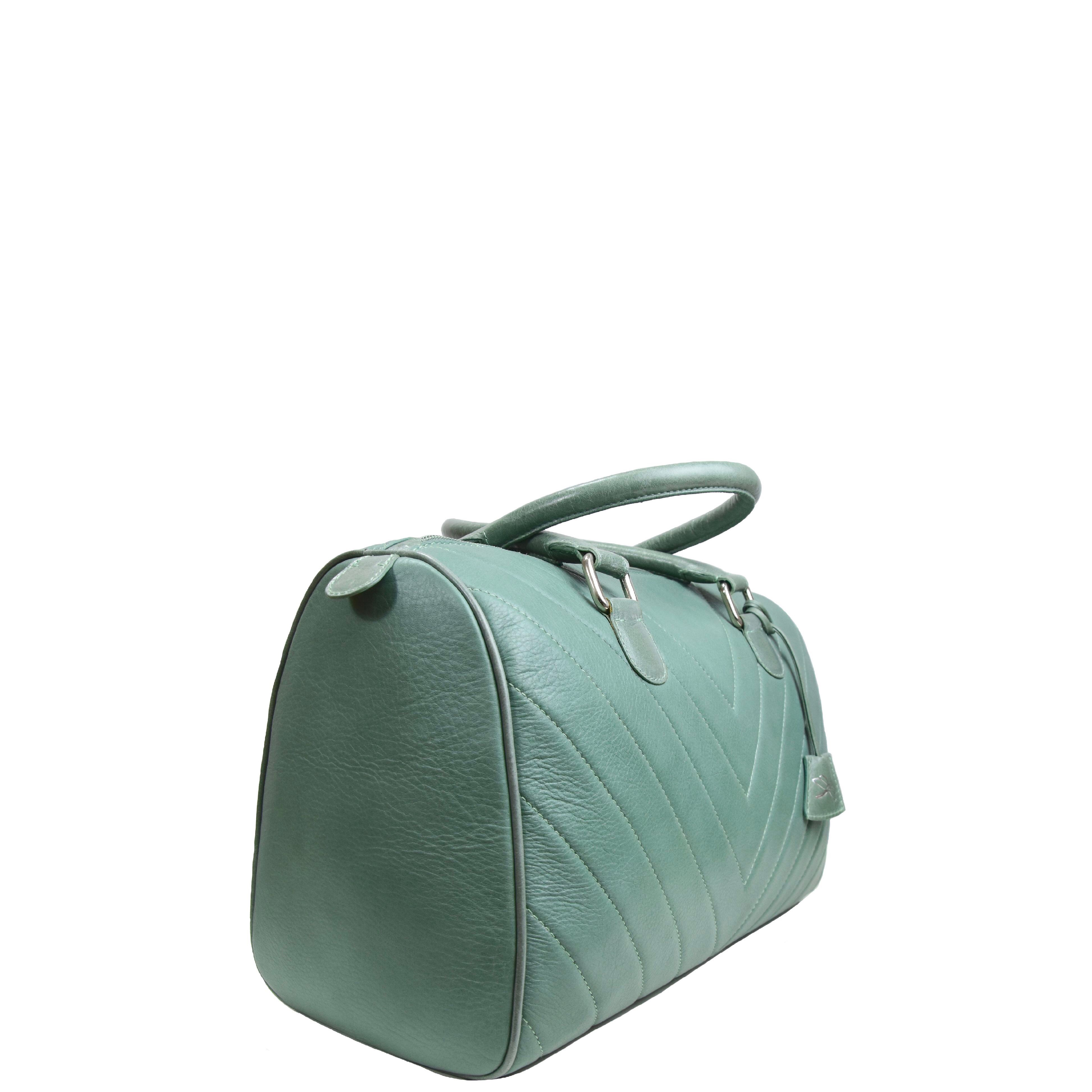 green leather handbag tara's