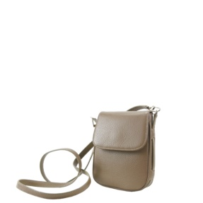Pretty mini crossbody to match any look, designed and carefully made in Tara's Atelier. Made with Italian leather and soft skin inside. Cover magnetic closure, long strap.