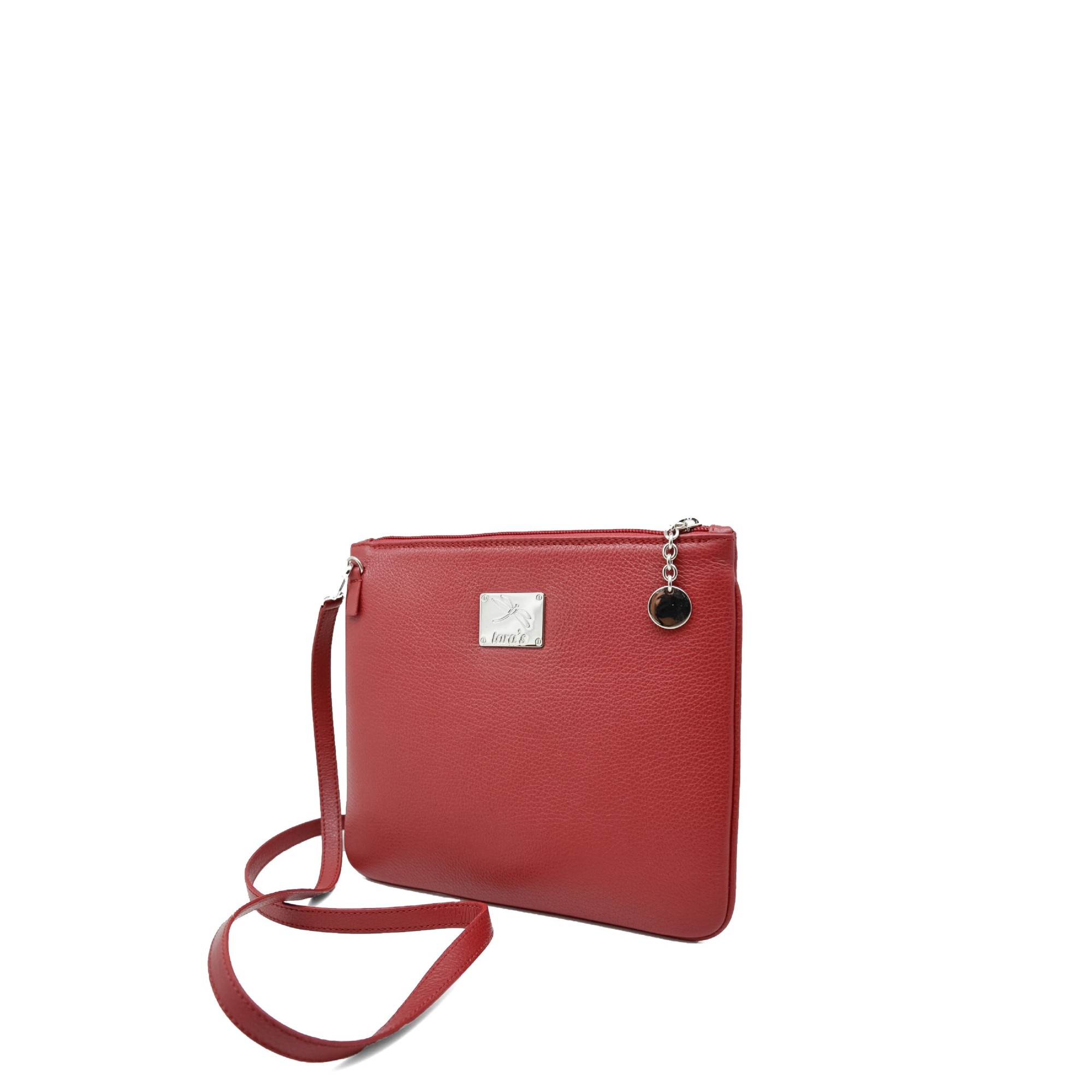 Essential crossbody bag of practical size designed for day to day activities. Made with italian cowhide and high quality fittings, Carefully made in the Tara's Atelier. Top zip closure, long strap drop, zip pocket, soft leather lining