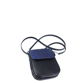 Blue Snake & Leather Mini crossbody. Soller