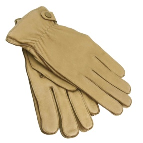 Men Brown Leather Gloves