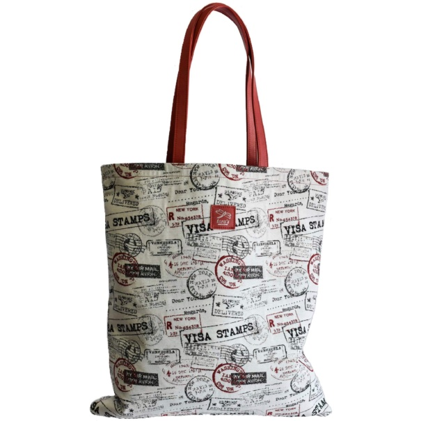 Jacquard Red Shopping Bag