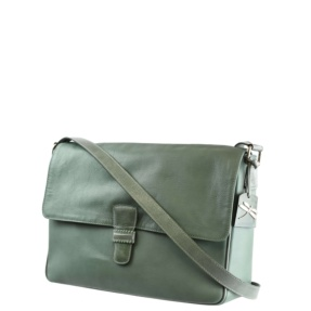 green leather crossbody messenger bag tara's