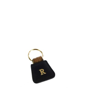 Personalized Leather & Cavallino Keyring