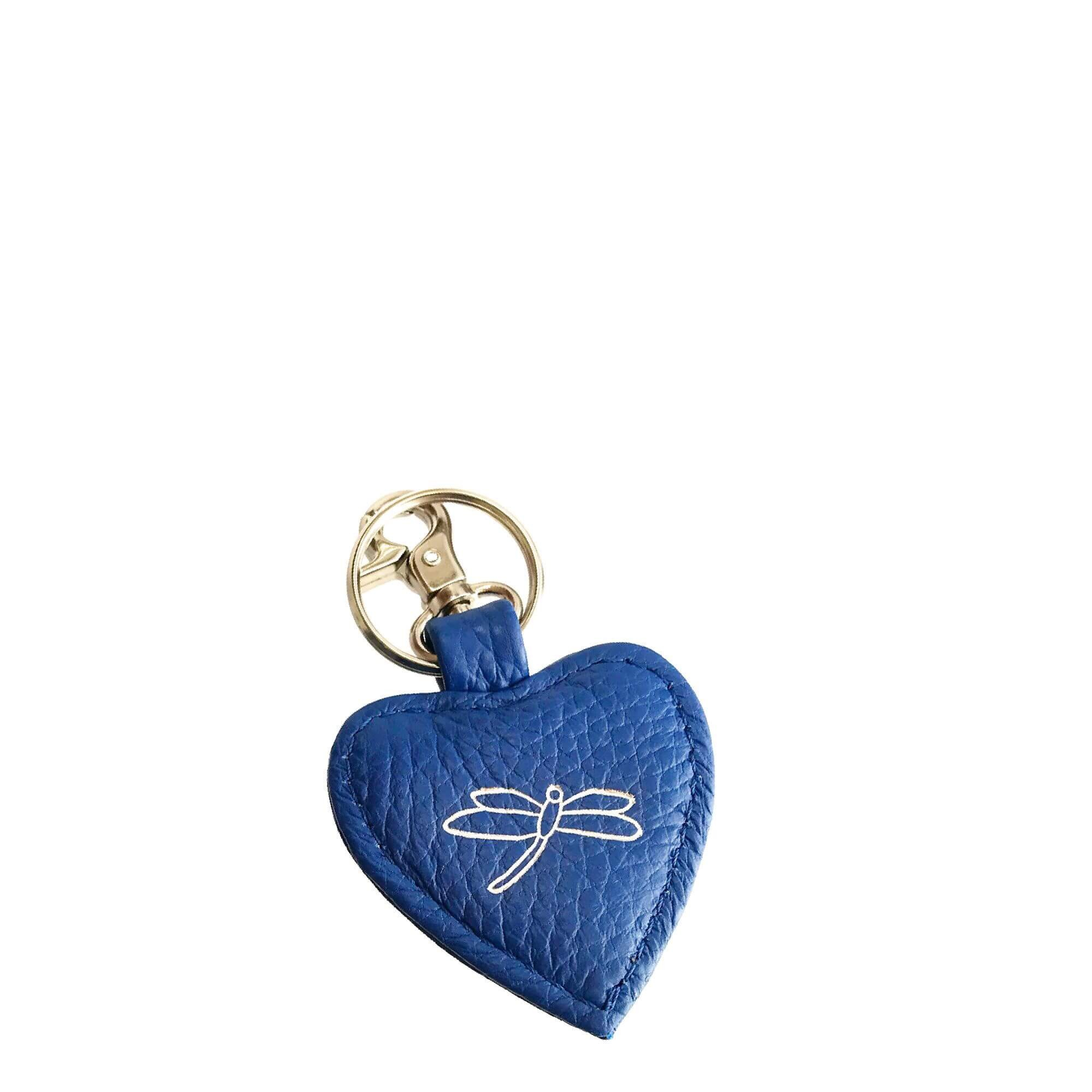 Blue Leather Keyring
