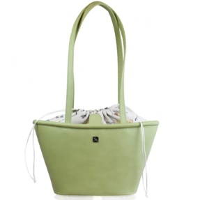 Mint leather Basket