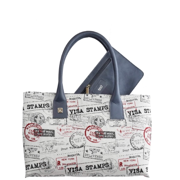 Canvas & Leather Tote Handbag - Leather Handbags | TARA´S