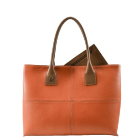 Natalia L Orange Tote Bag