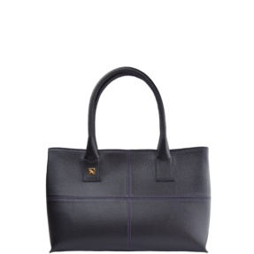 Natalia S Black and Purple Tote