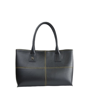 Natalia S Black and Yellow Tote Bag