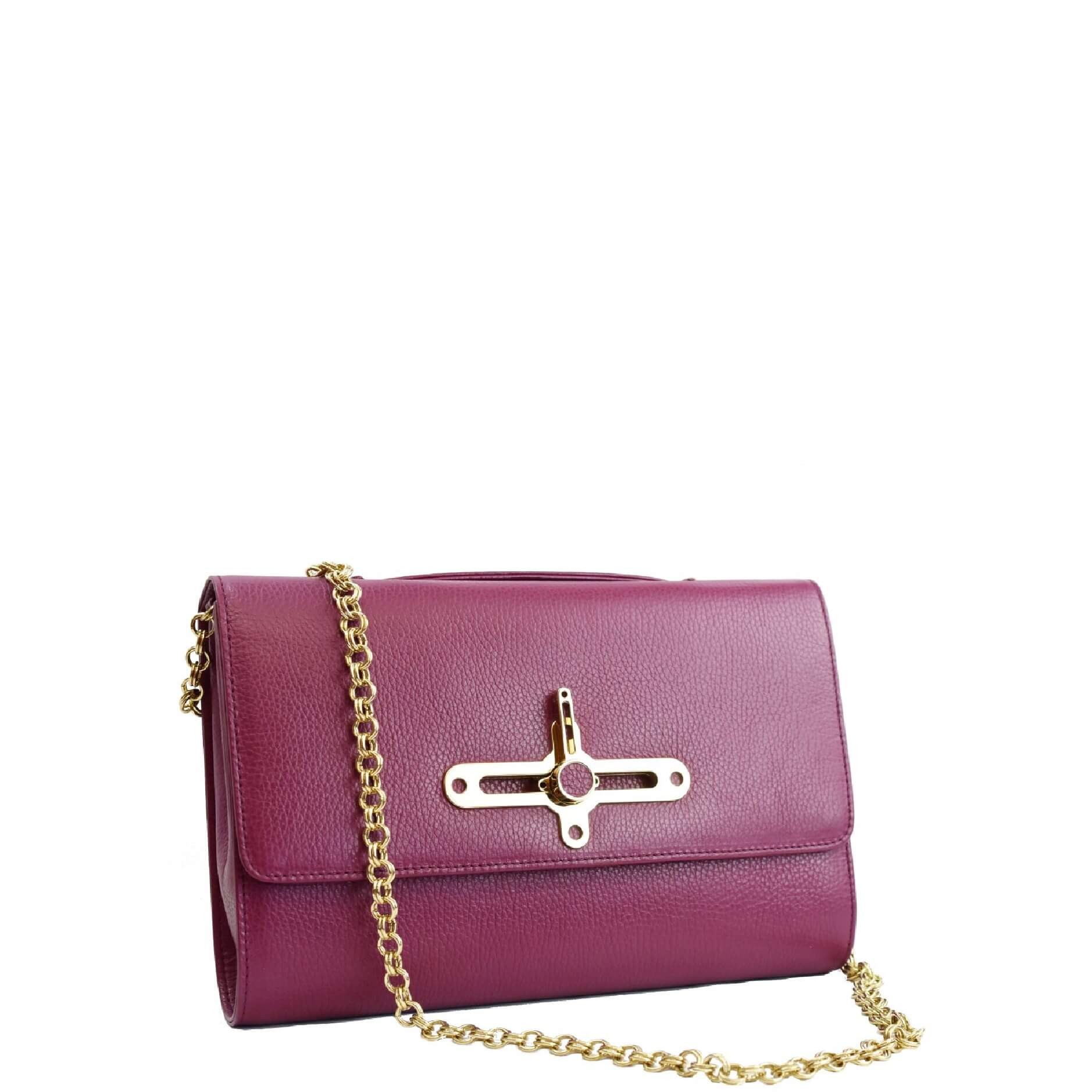 Clutch handbag. New York L Plum