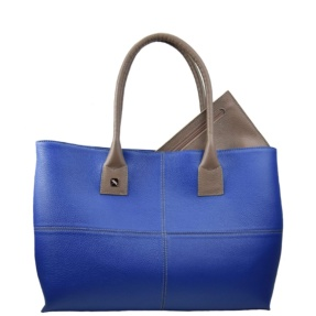 Blue and Taupe Tote. Natalia L