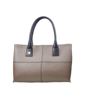 Taupe and Black Tote. Natalia S